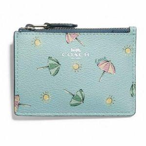 Coach Beach Umbrella Mini ID Wallet Key Chain